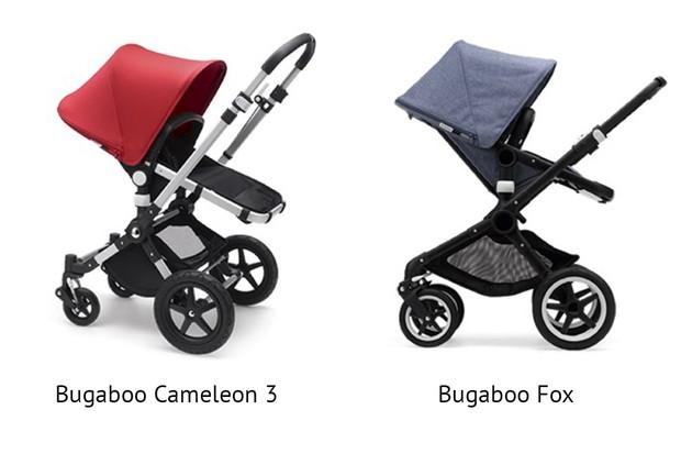 Skillnaden mellam Bugaboo Fox och Bugaboo Cameleon