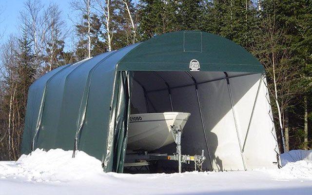 Garagetält som tål snö