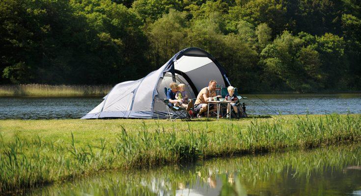 uppblåsbart campingtält och familjetält
