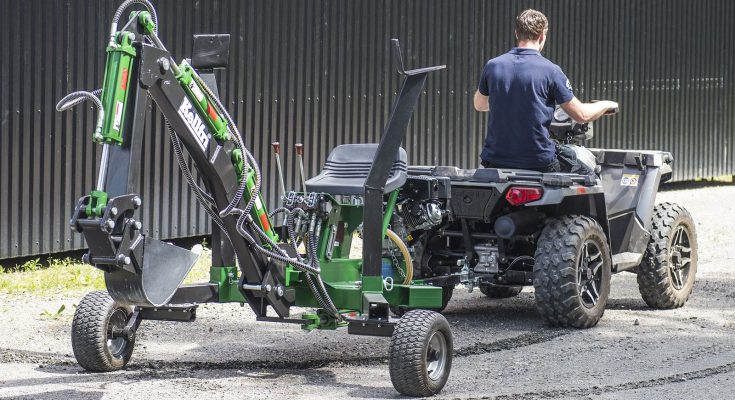 Grävmaskin till ATV - Bästa minigrävare till ATV (Grävaggregat)