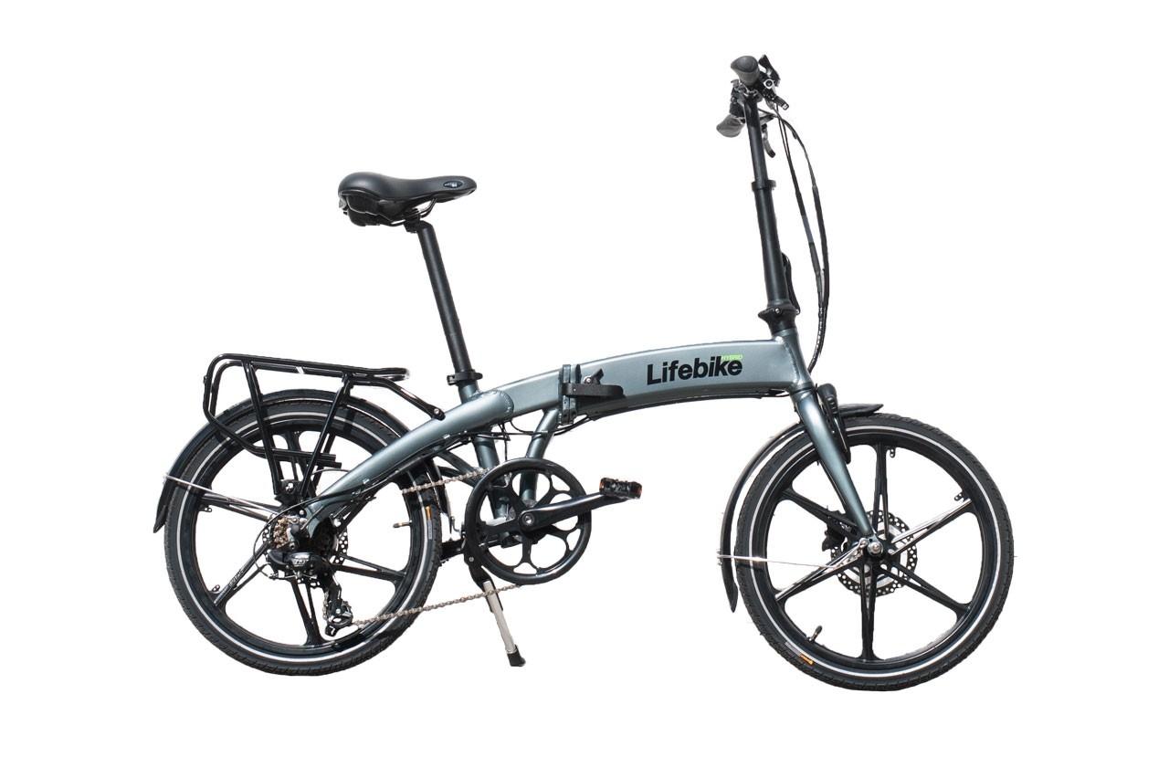 Lifebike C-Pact G7 Grå (Hopfällbar dam elcykel)