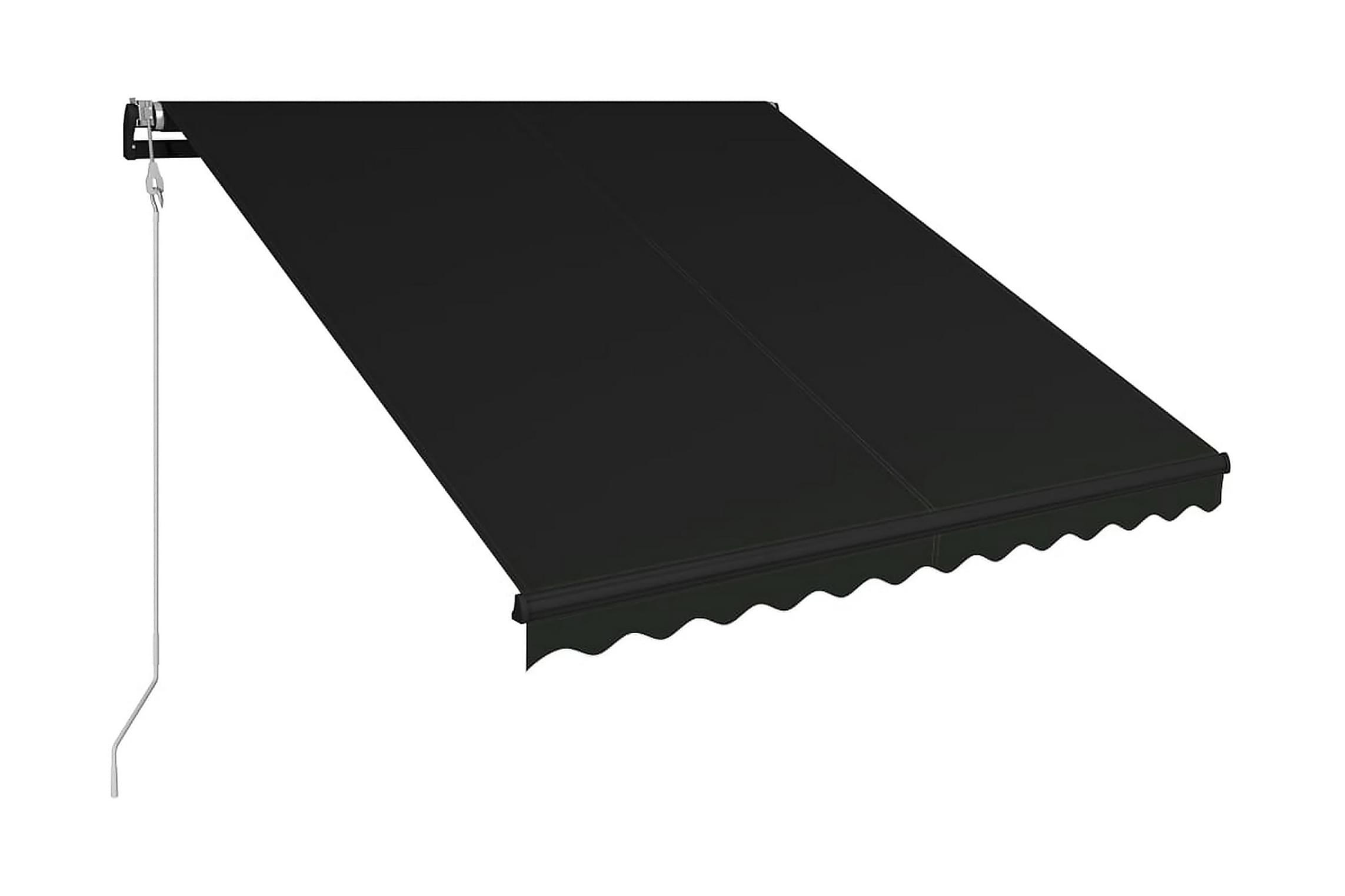 Terrassmarkis med vindsensor & LED (Billig automatisk markis på 3 meter)